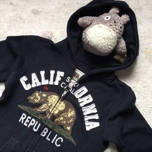 Reflex Kids SM 7/8 zip up CALIFORNIA hoodie navy